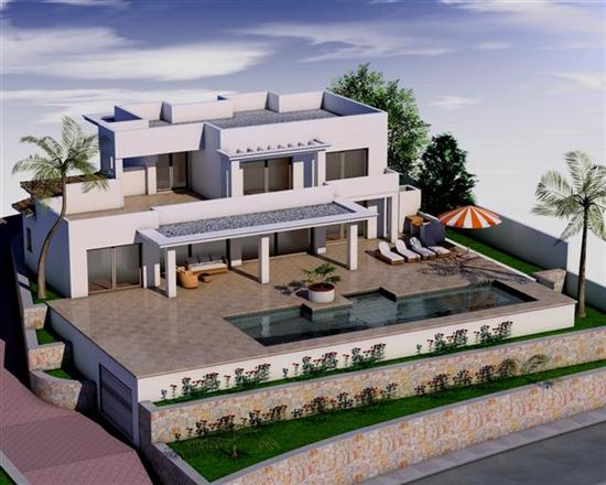 This luxury villa project is distributed on 2 levels. On a plot of 1136 m2 and a 357.70 m2 build, , Spain