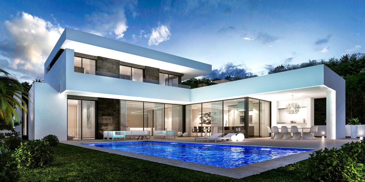 This modern design Villa is due to be built within walking distance to the SEA and the centre of M,Spain