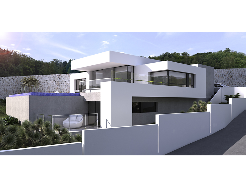 New project to be built in Moraira Solpark, consisting of an open plan living/dining area with fir,Spain