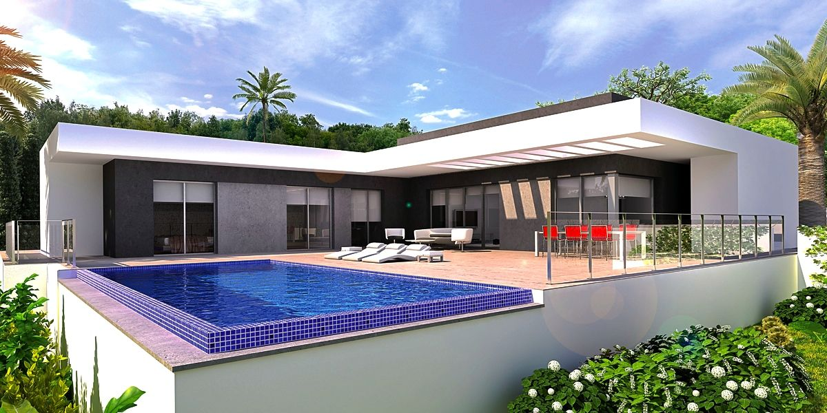 This project of a very modern style villa can be built on several plots that fit this budget. Depe,Spain