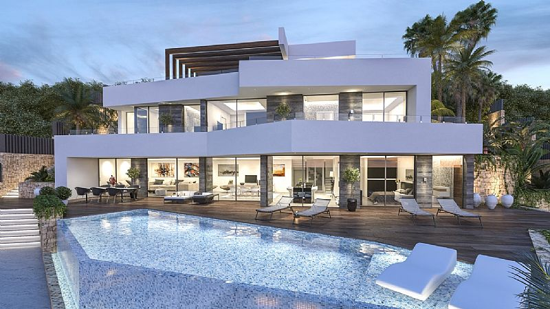 New modern construction in Benissa Coast. This new build has the highest quality finishings, and p,Spain