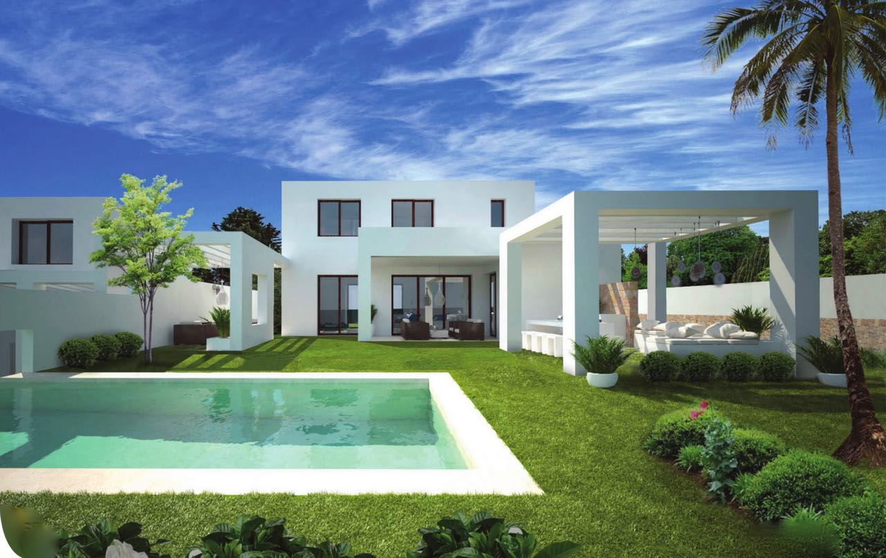 Two townhouses of high quality to be built on an 830m2 plot, just about 900 metres away from the t,Spain
