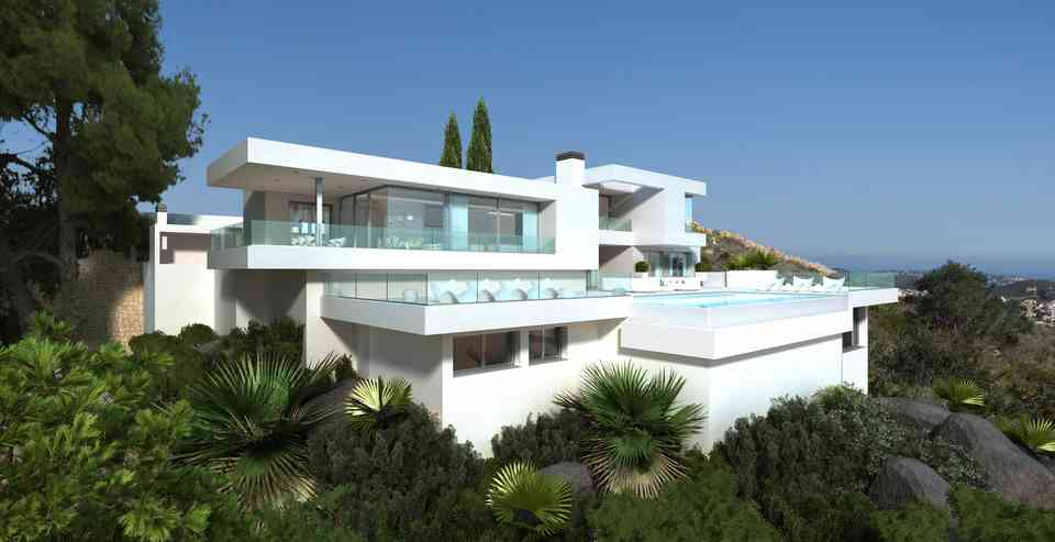An immaculate modern villa situated in a unique location, which stands out for the exceptional vie, Spain