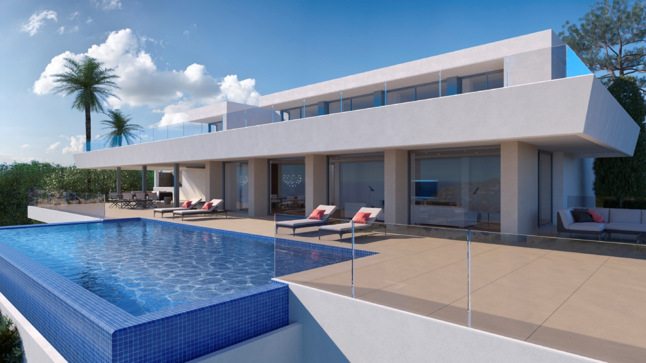 This modern villa is situated on a plot of 2,493m2, and is distributed over three levels, with spa, Spain