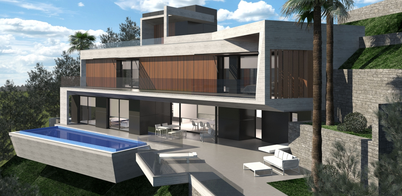 A designer villa to be built in the Sierra de Altea with incredible panoramic sea views and just 1, Spain