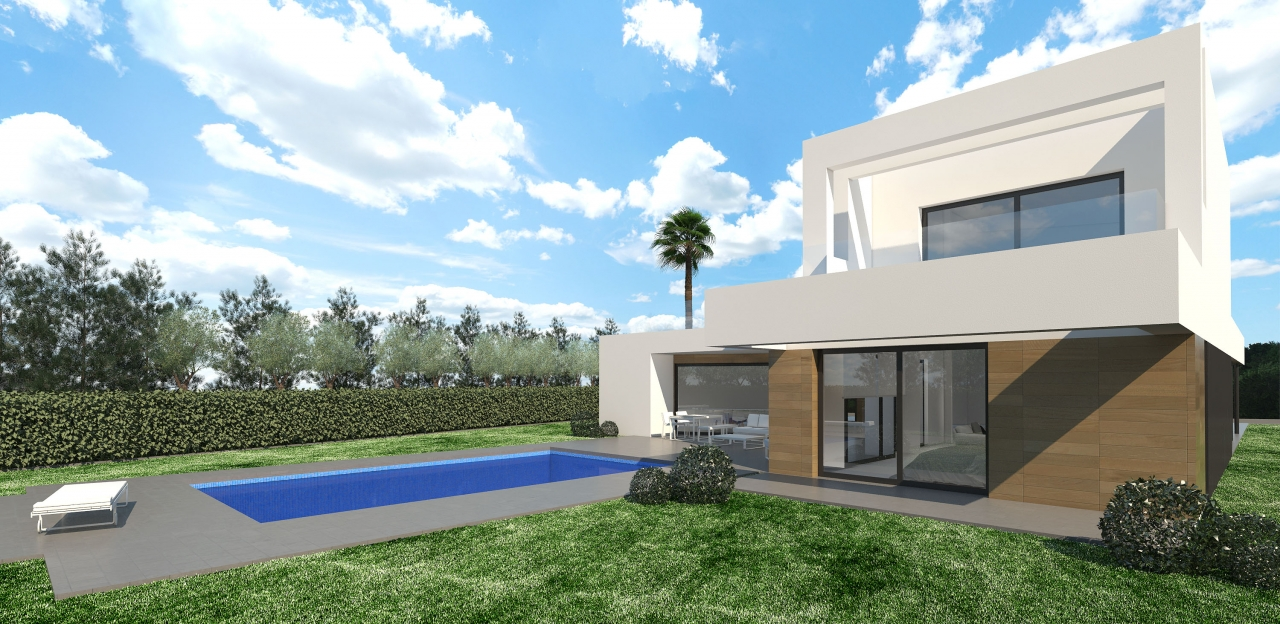 This project is a modern free style villa which can be built on an appropriate plot of choice on t, Spain