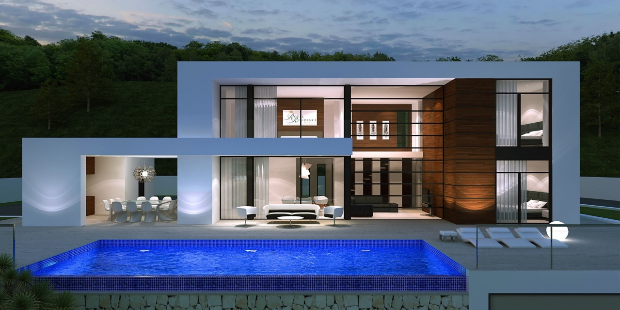 A beautiful new building design villa to be built on a plot of own choice on the North Costa Blanc, Spain