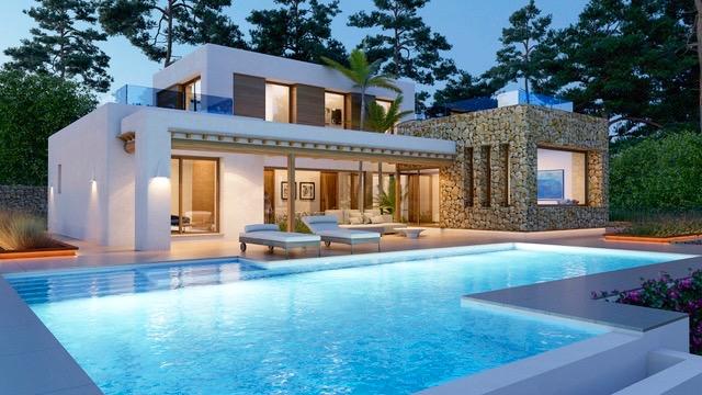 elegante villa mediterr nea moderna en javea