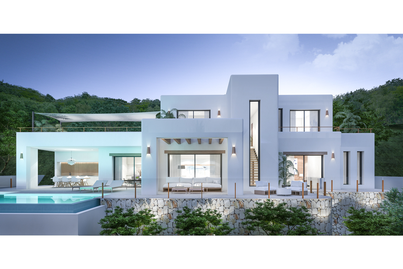 This is a project of 5 new villas, with just one villa left for sale. Close to Moraira and all ame,Spain