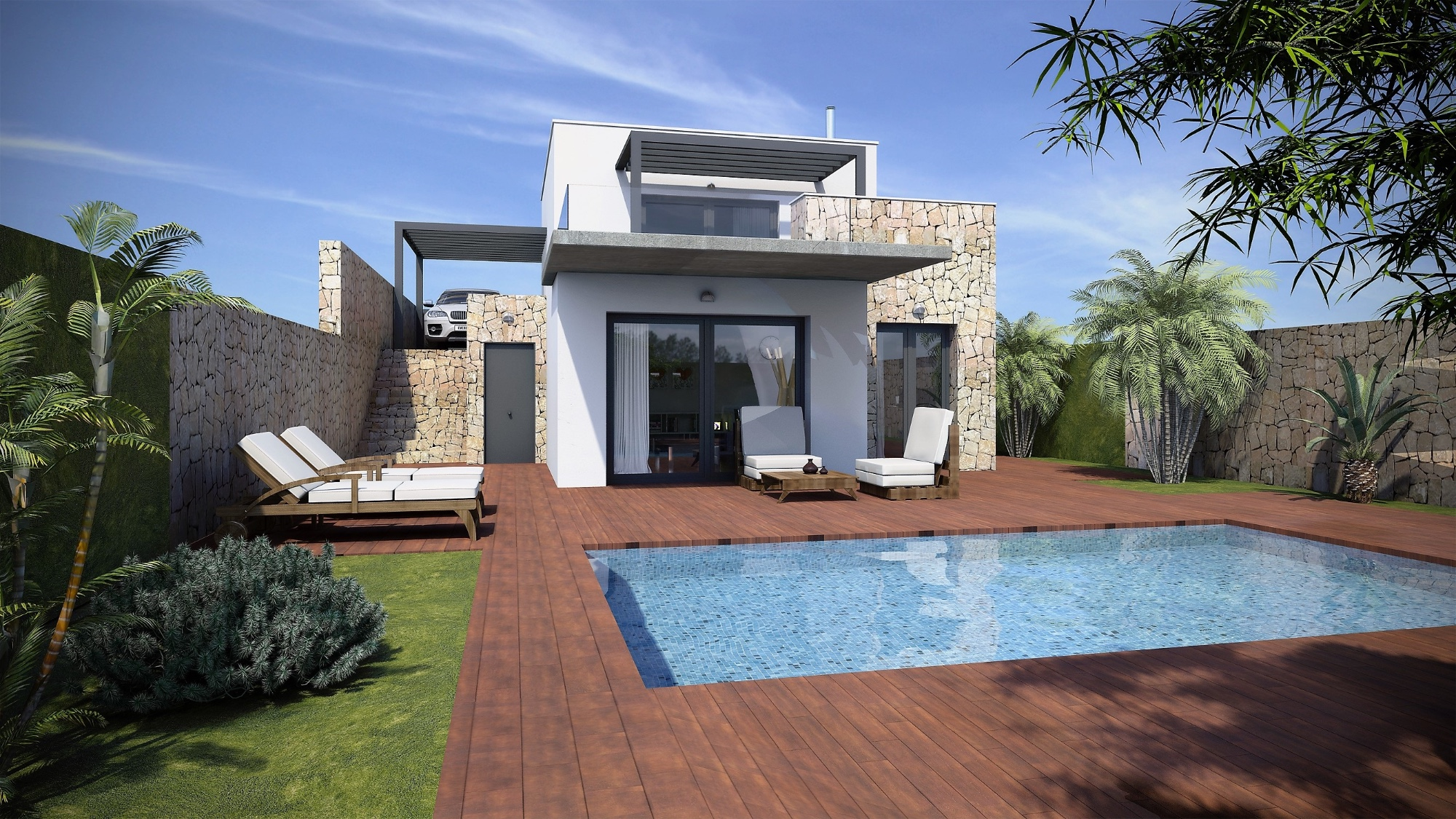 New build villas in the heart of Alcalali. There will be a small community of new villas,Spain