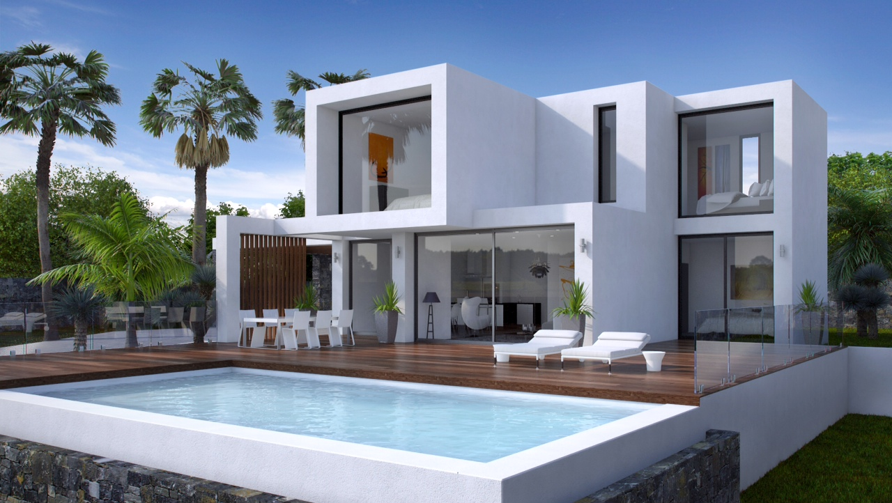 A Modern design villa in Moraira, Arnella. This beautifully designed modern project vill,Spain