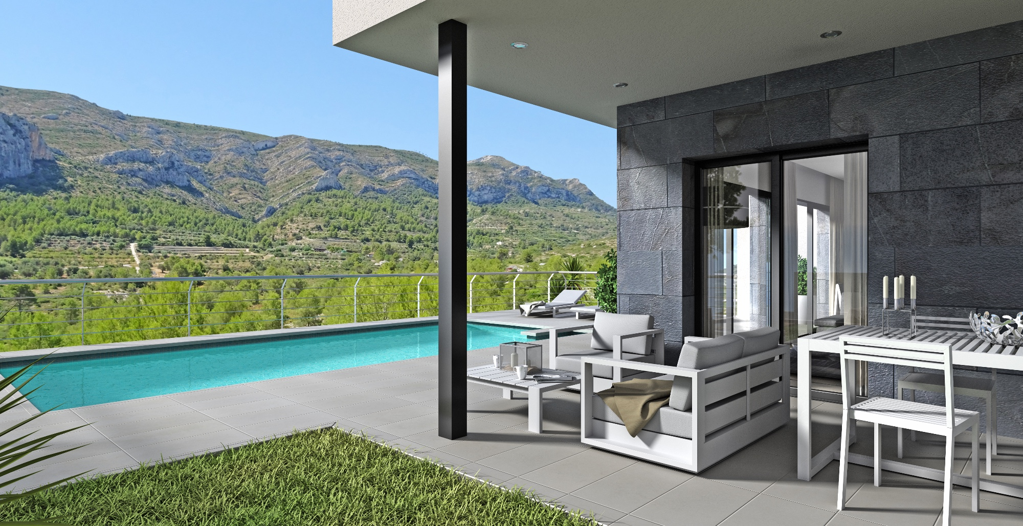 A modern design new build project.  A new development in Pedreguer with 5 plots still ava, Spain