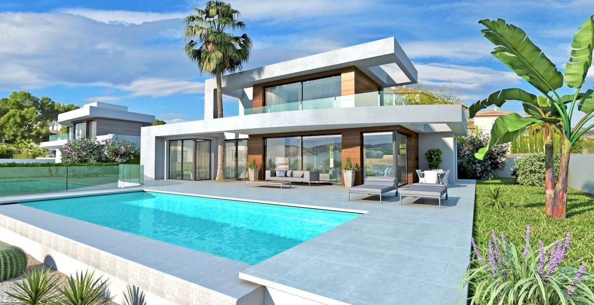 New modern villa on a completely flat plot situated only 2,5 km away from the beach and walking di,Spain
