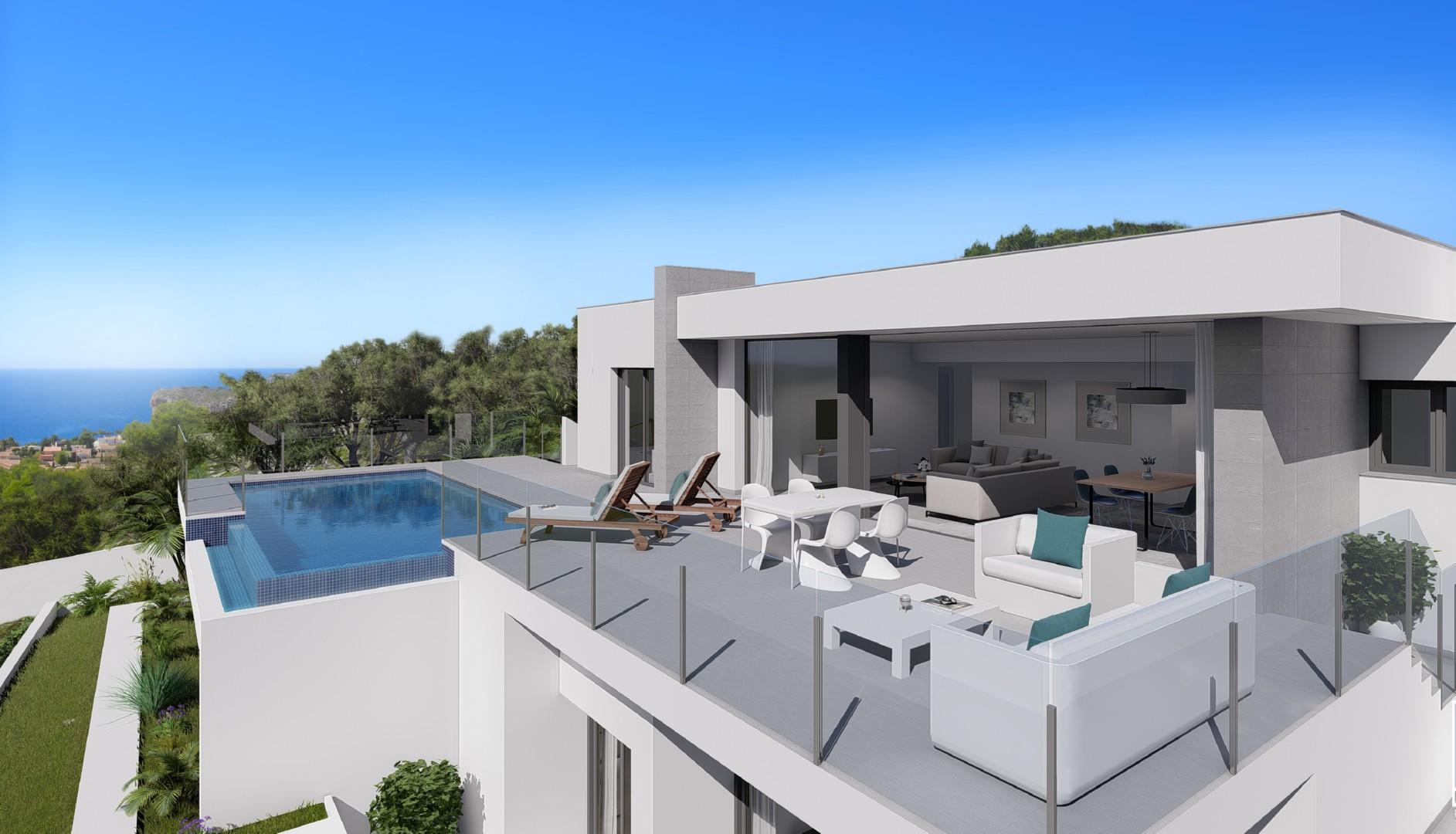 A modern villa located in Lirios, Cumbre del Sol in Benitachell, a consolidated residential area w,Spain