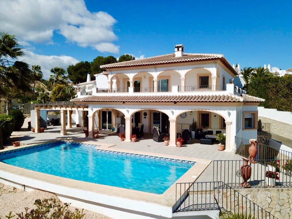 Beautiful 5 bedroom villa with Sea Views in Sol Park, Moraira. The property is just minutes from a,Spain