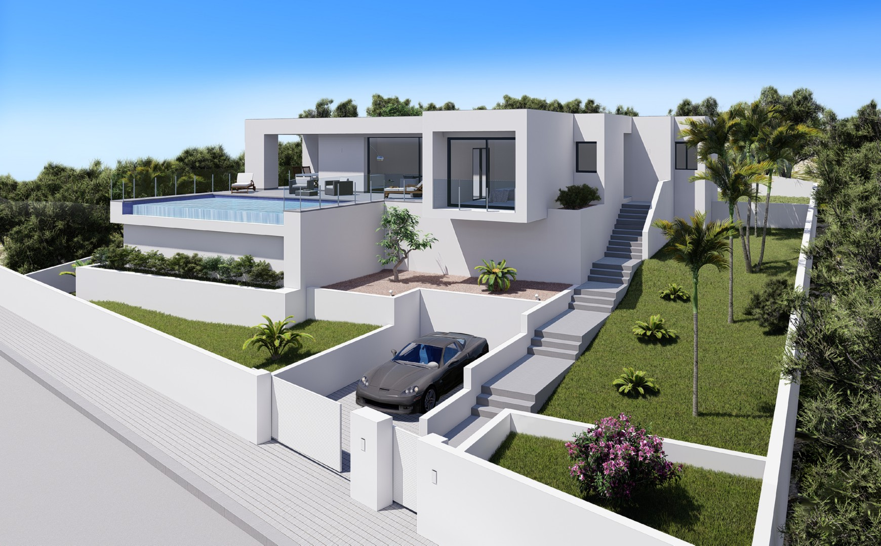 New project developed for Cumbre del Sol, Benitachell. This luxury villa has a main living area wi,Spain
