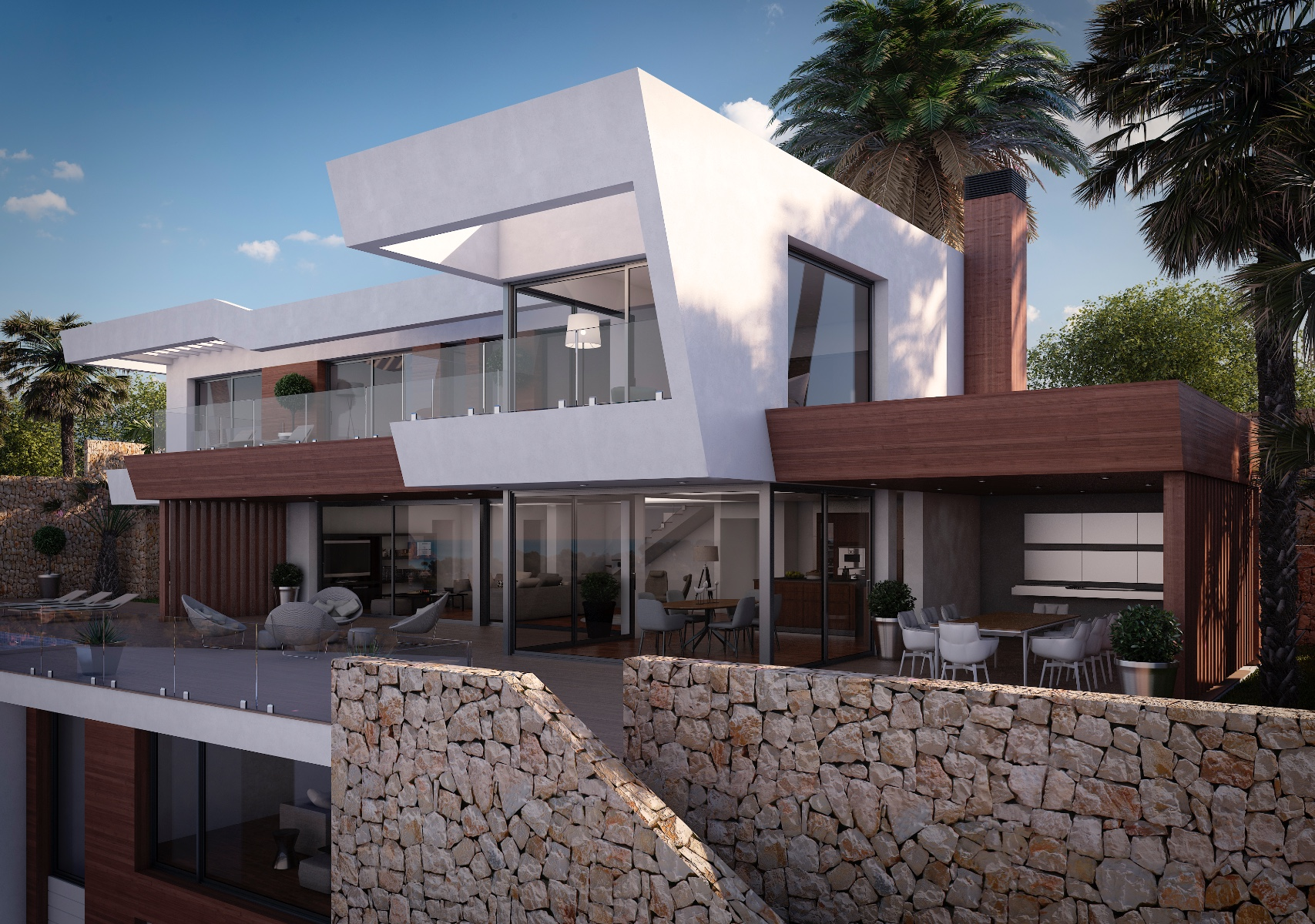 A stunningmodern design villa with sea views in Moraira. This beautiful villa is in the ,Spain