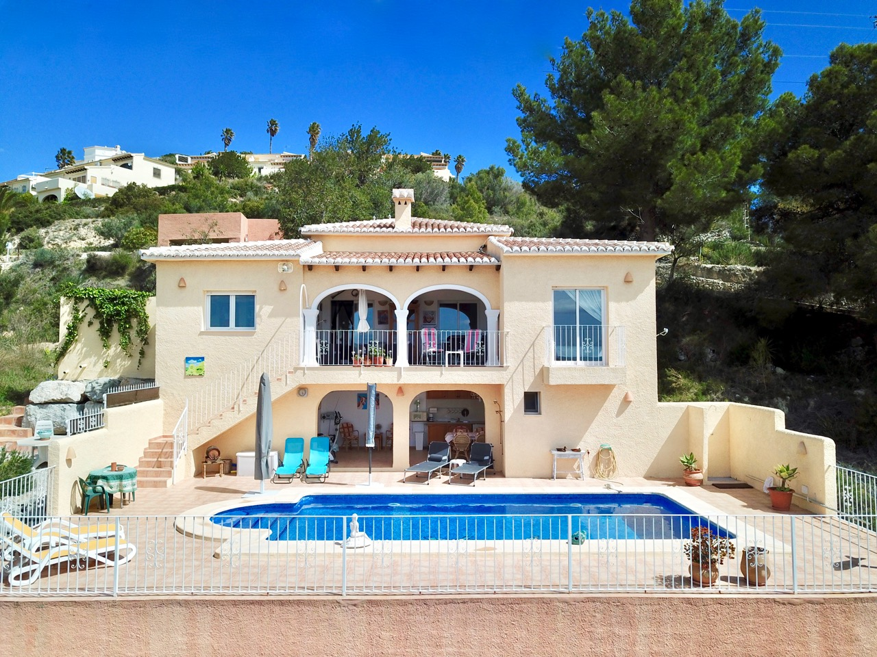 A lovely villa for sale in Castellons Vida, Teulada, situated in an elevated position with excelle,Spain