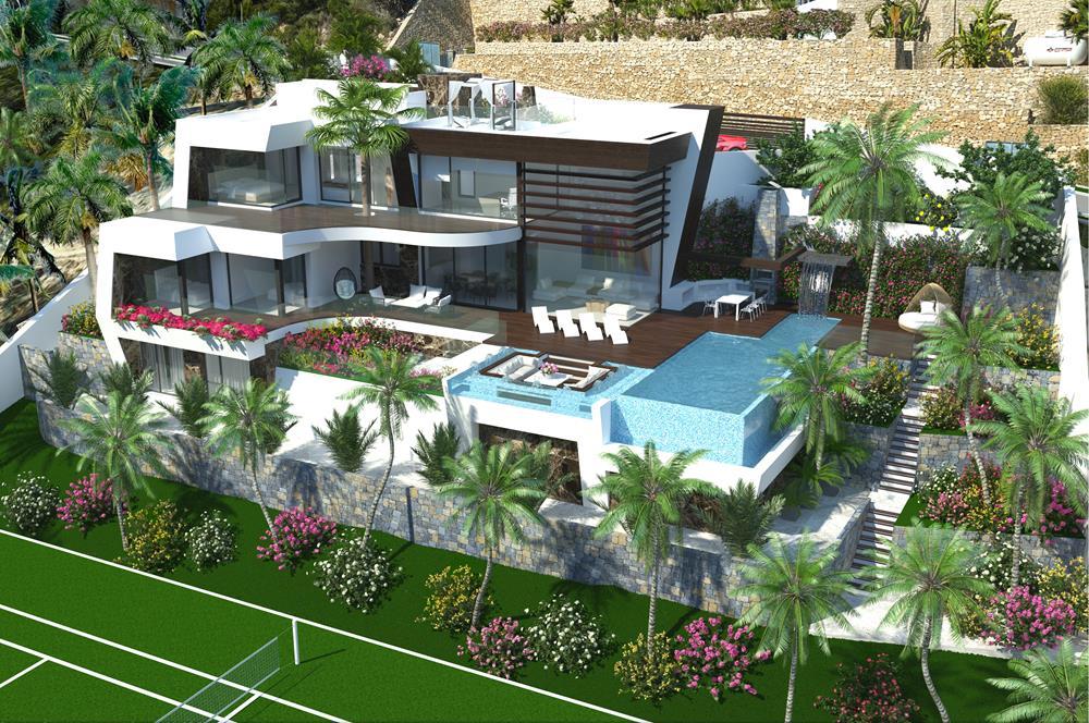 A Luxury modern style Sea Viewvilla under construction in Benissa, Raco de Galeno. This ,Spain