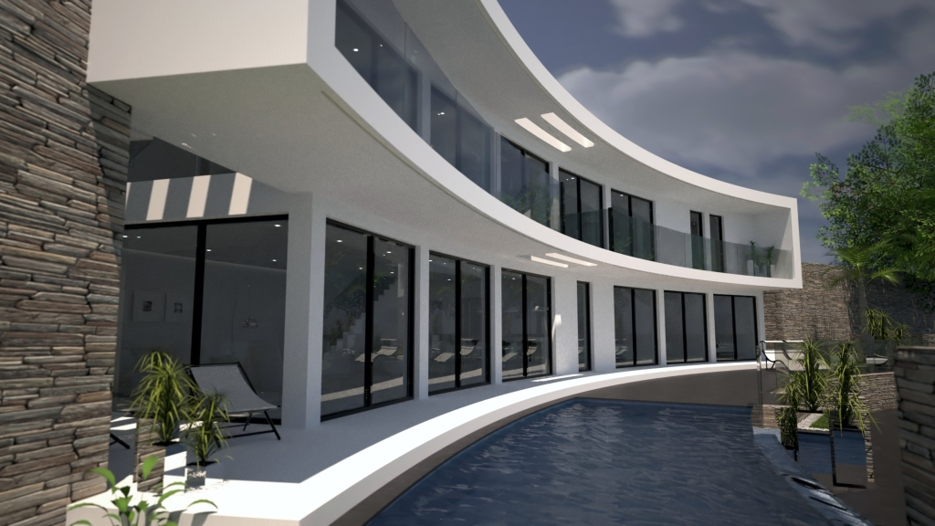 Astunning modernSouth facing villa with incredible open views towards the Cumb,Spain