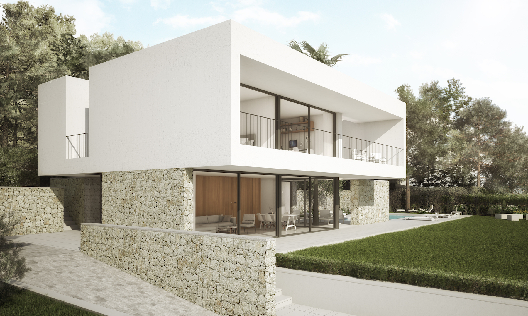 This stunning new build villa consists of 2 floors with a total construction of 205m2 sitting on a,Spain