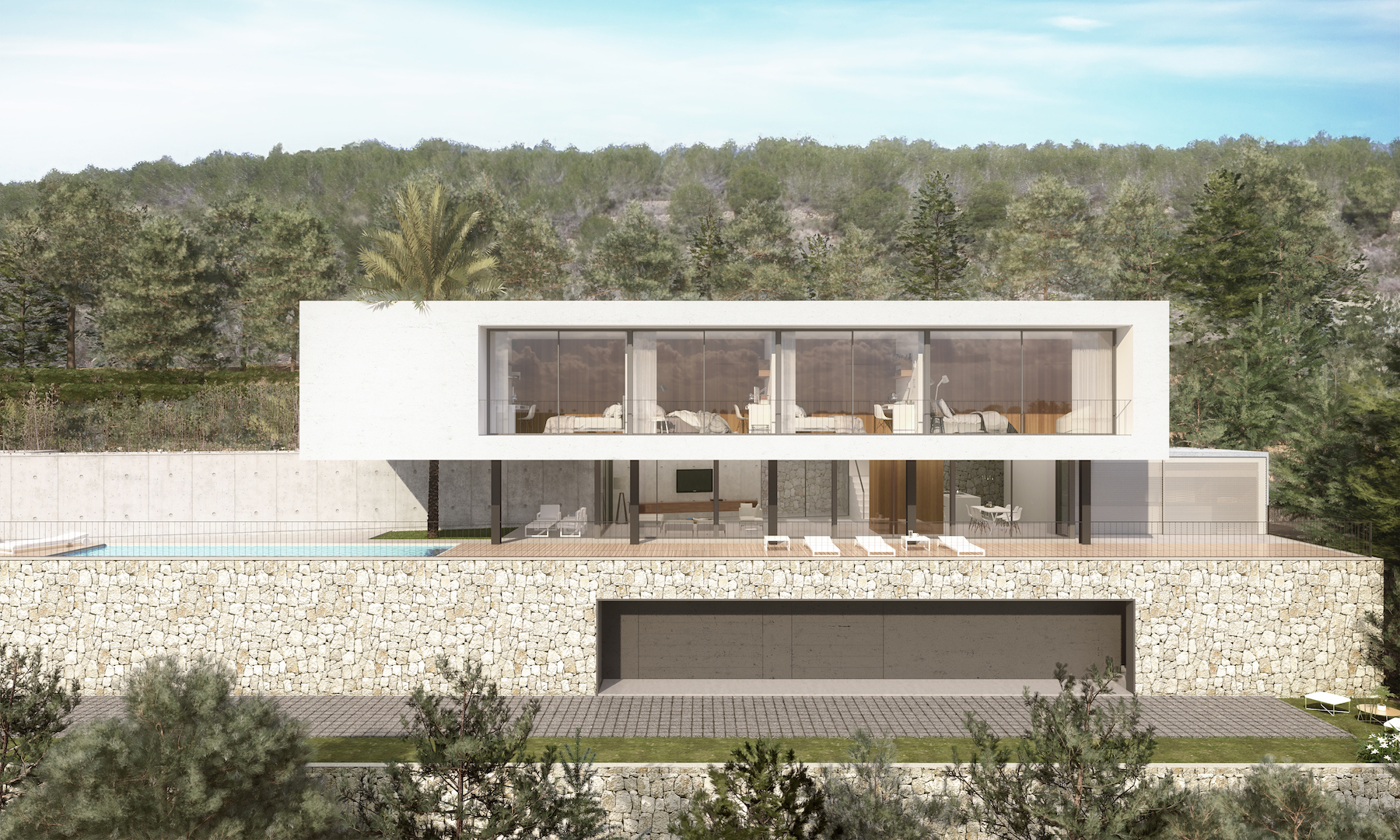 This stunning new build villa consists of 2 floors with a total construction of 284m2 sitting on a,Spain