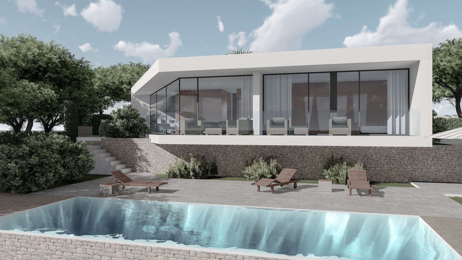 This stunning new build villa is all on one level with a total construction of 127m2 sitt, Spain