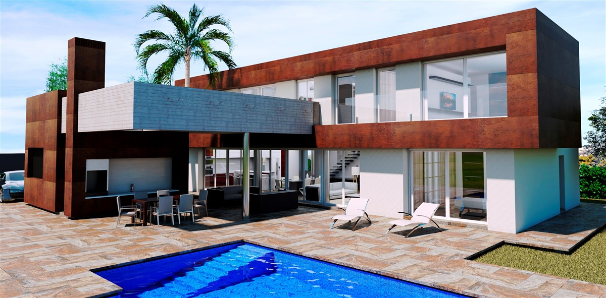 A modern design villa project to be built in Moraira, Benimeit. This new build villa will consist , Spain