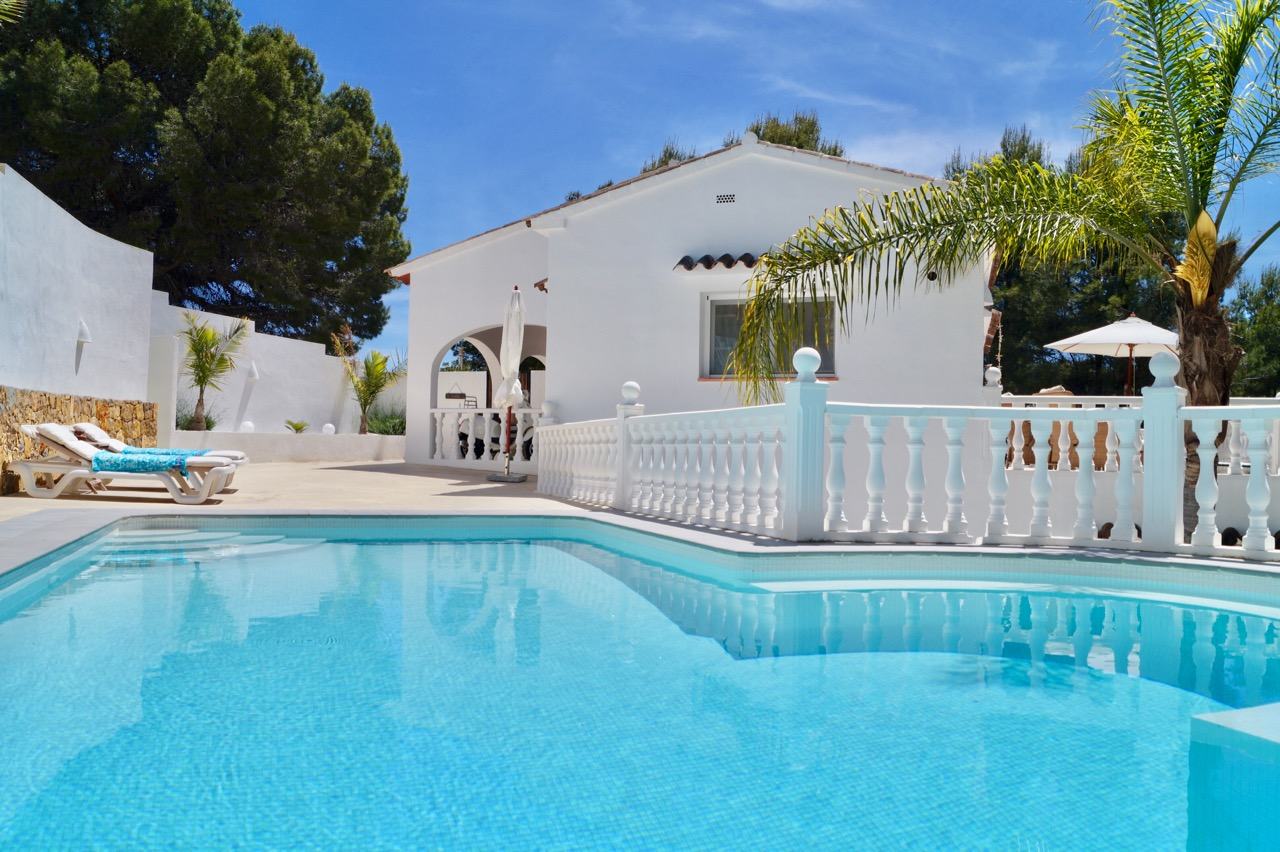 The bright and AMAZING decorated villa is located in Benissa, Montemar at the end of a very quiet , Spain