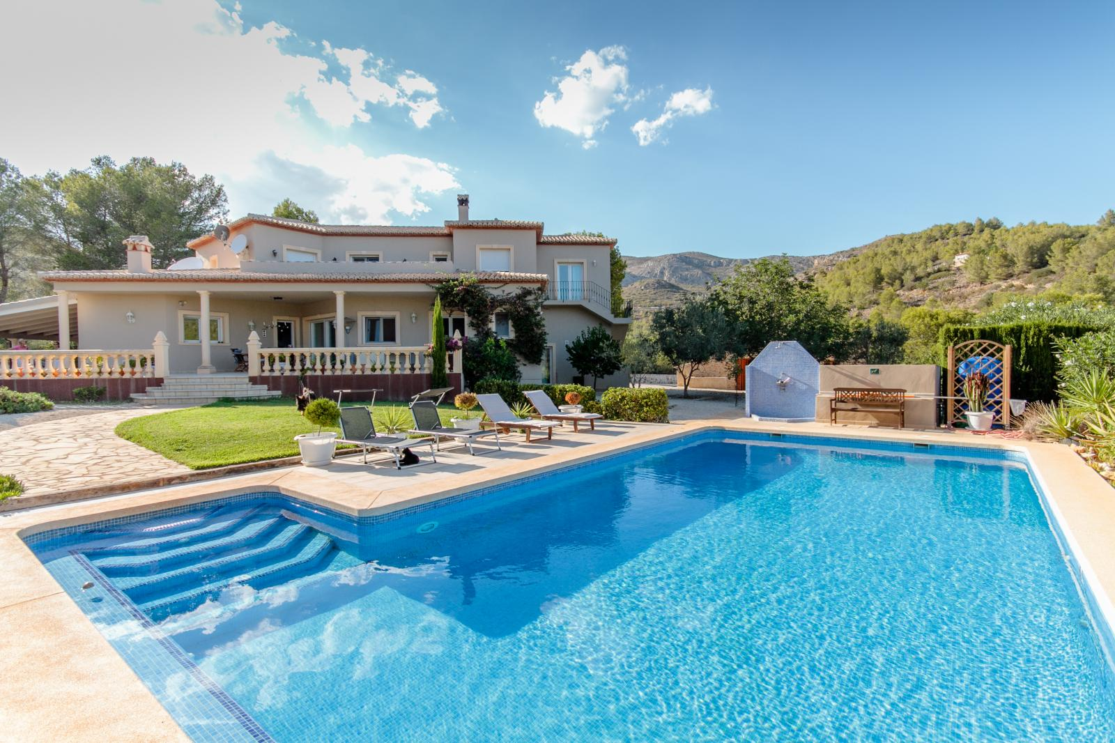 This beautiful luxury villa is situated in the middle of unspoiled countryside and has fa, Spain