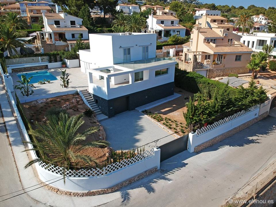 Modern luxury villa with sea views and tothe Penon de Ifach. The villa has been built wi,Spain