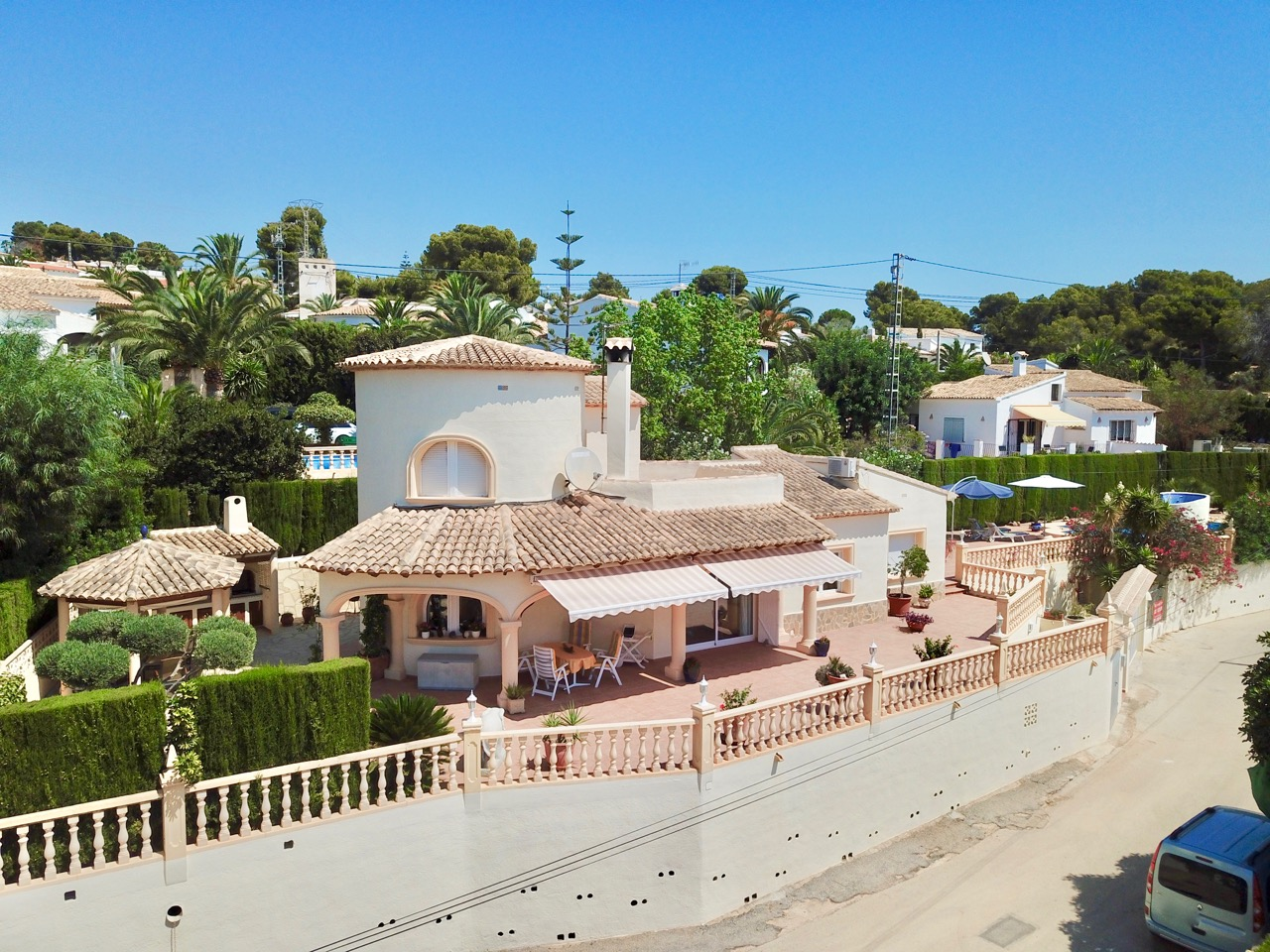 This beautiful well maintained villa in Moraira, Moravit is located at walking distance to the sup, Spain