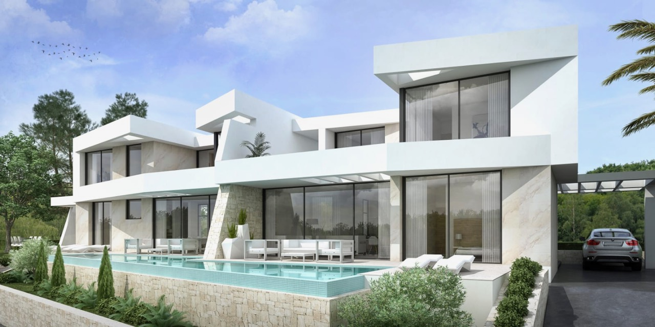 2 Modern New Build semi detached villas. These well designed modern villas will be built , Spain