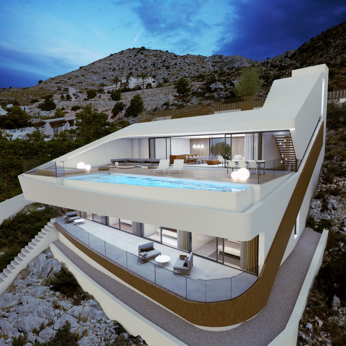 Luxury sea view villa situated inthe beautiful hills of Altea, just 5 minutes drive from,Spain