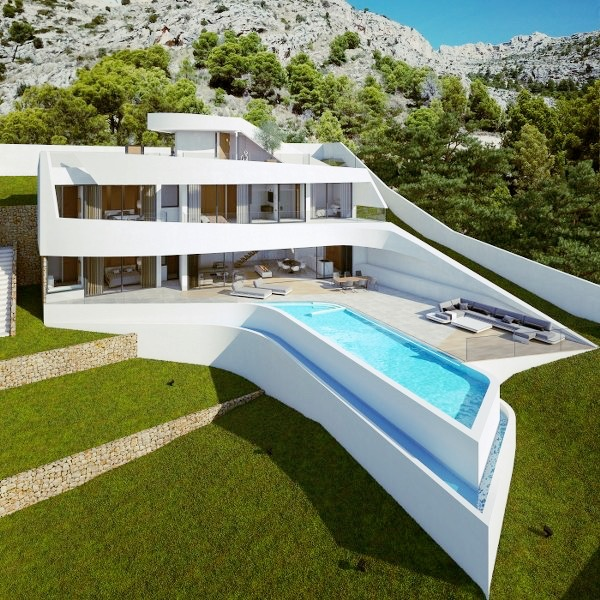 An impressive Modern Design luxury villa, situated in a sought after exclusive area of Altea with ,Spain