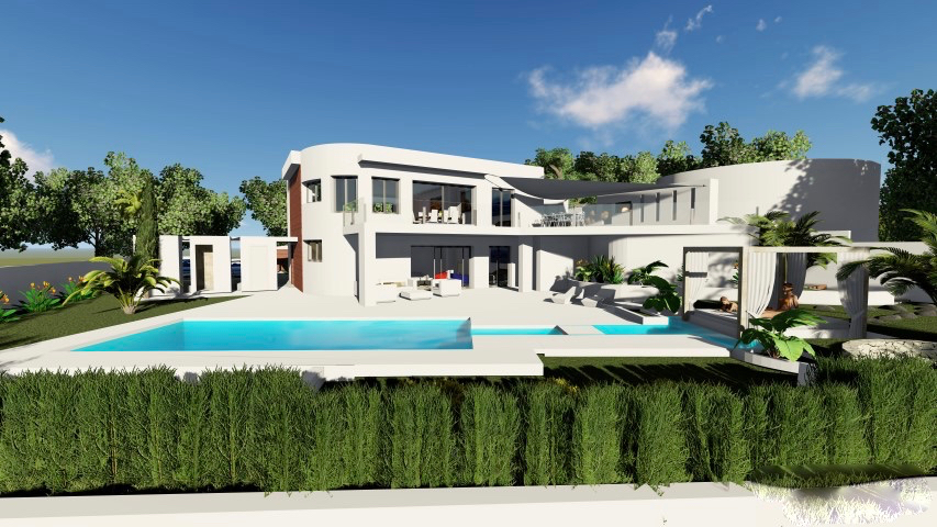 This ultra modern 4 bedroom sea view Villa is to be built on a well located plot in la Sabatera, w,Spain