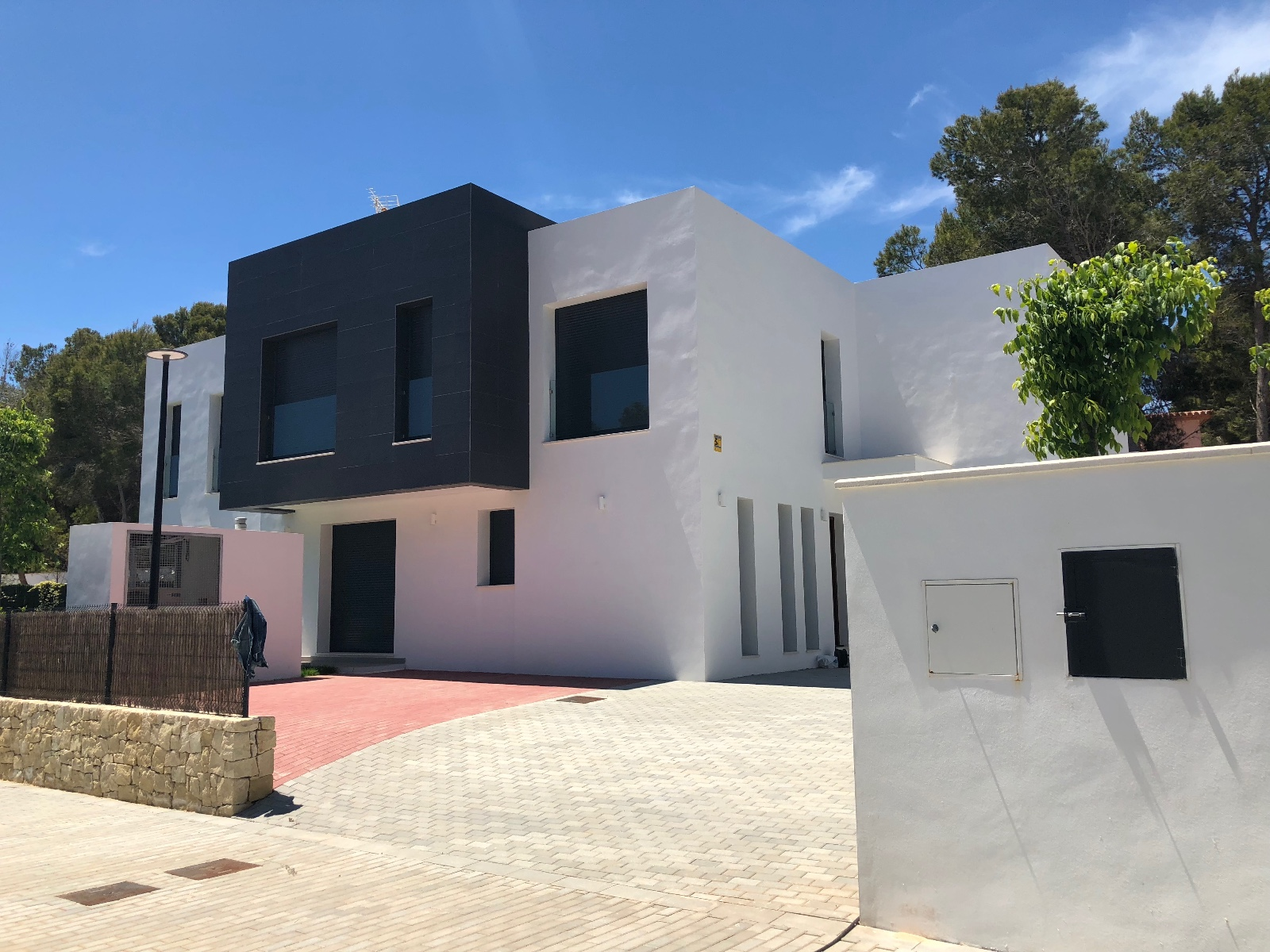 Beautifully designed semi detached villas in Moraira. One villa is already built and ready to be m,Spain