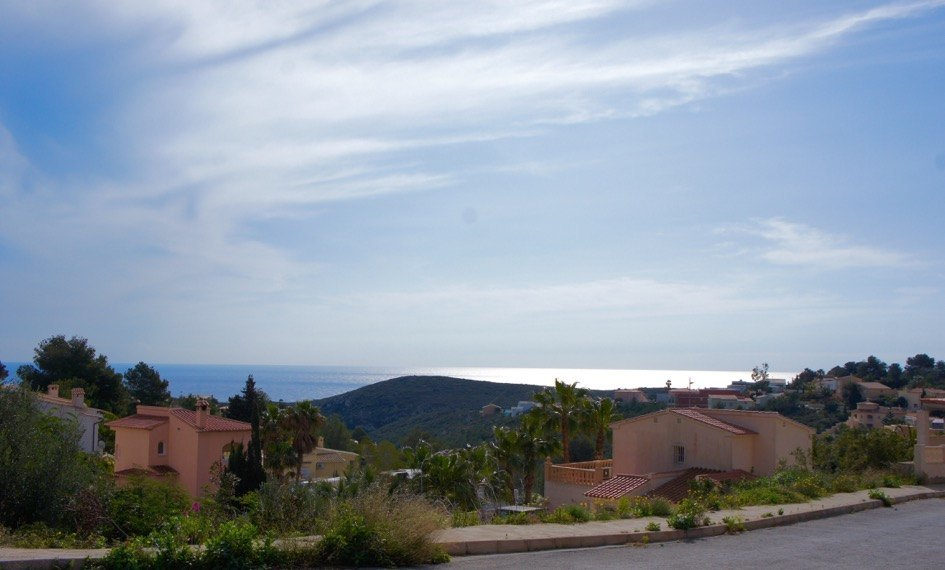 Building plot with sea view for sale in Benitachell, La Cumbre del Sol. This is a slightly sloping,Spain